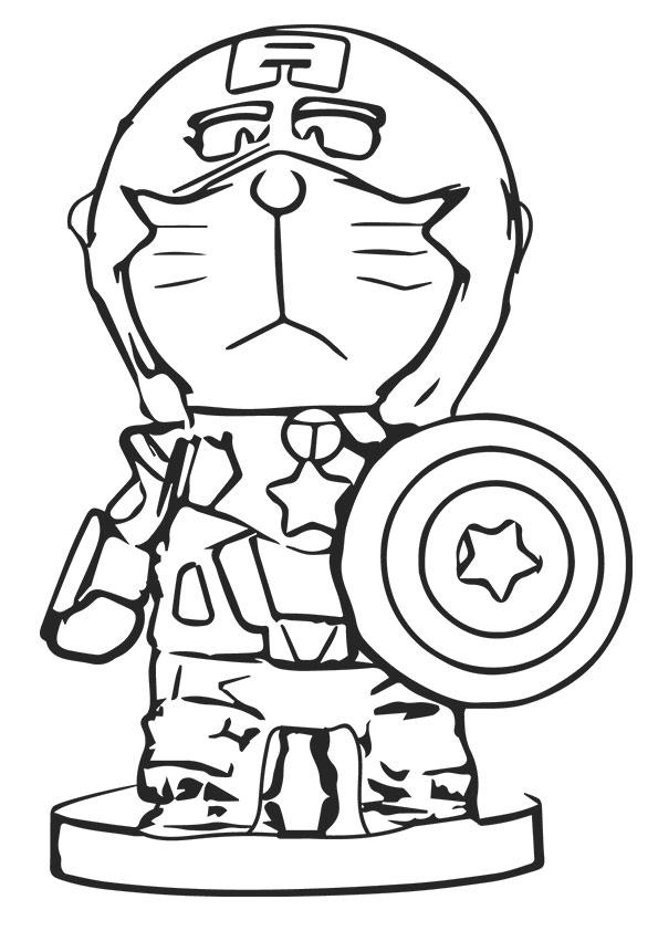 Captain America Doraemon