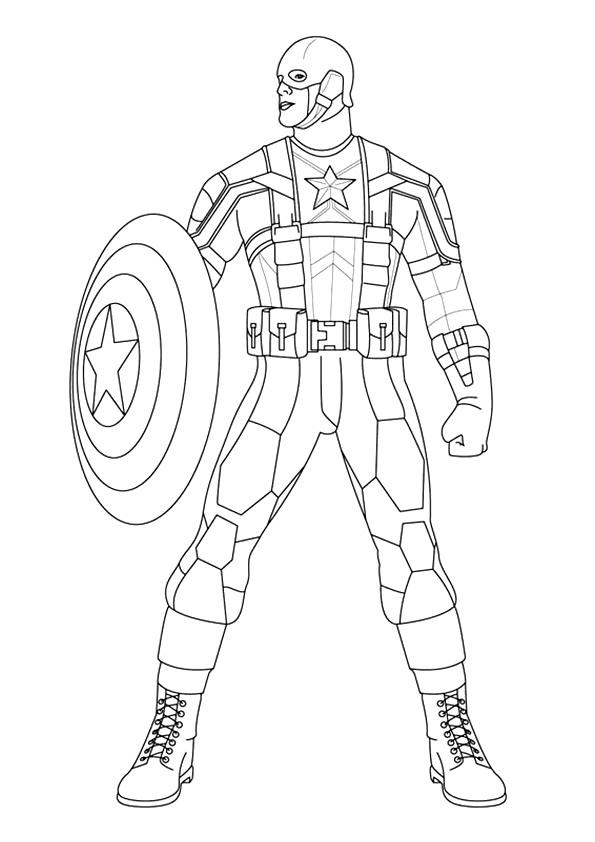 Bold Captain America