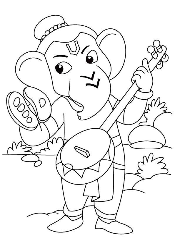 Ganesha Playing Sitar
