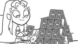 Starfire Girl Card Game