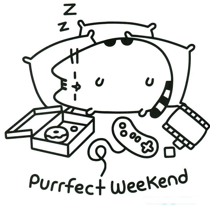 Pusheen Sleeping