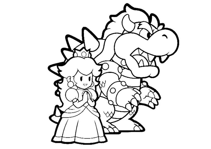 Princess Peach And Dragon