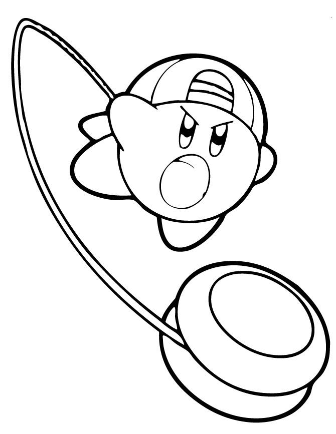 Kirby Playing Yoyo