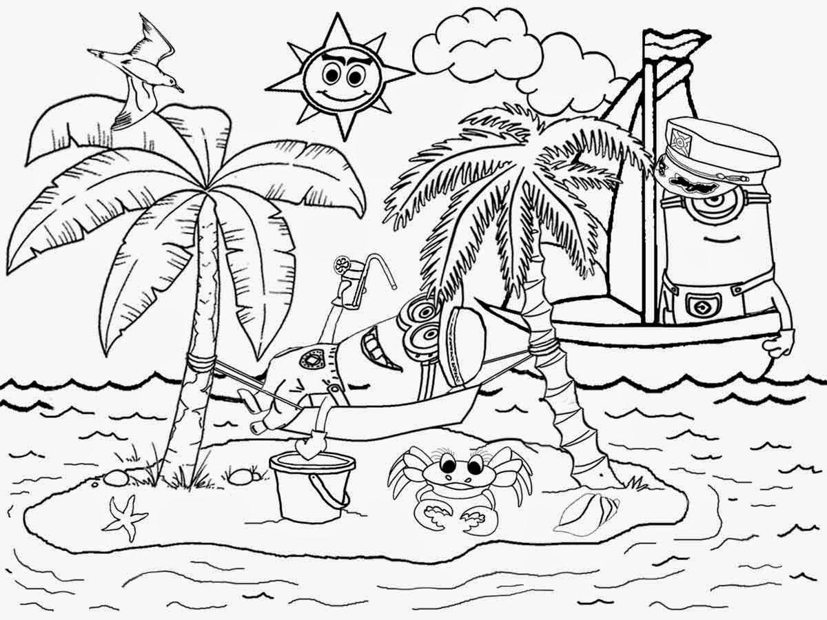 Minions In The Beach