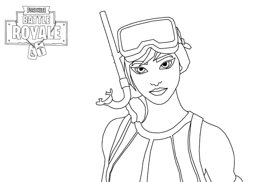 Girl Character Of Fortnite Battle Royale