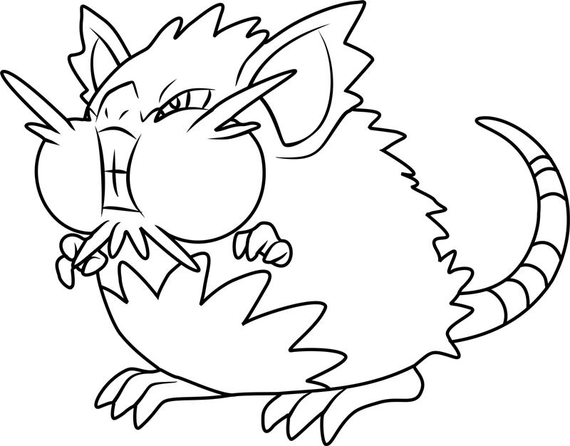 Angry Alolan Raticate