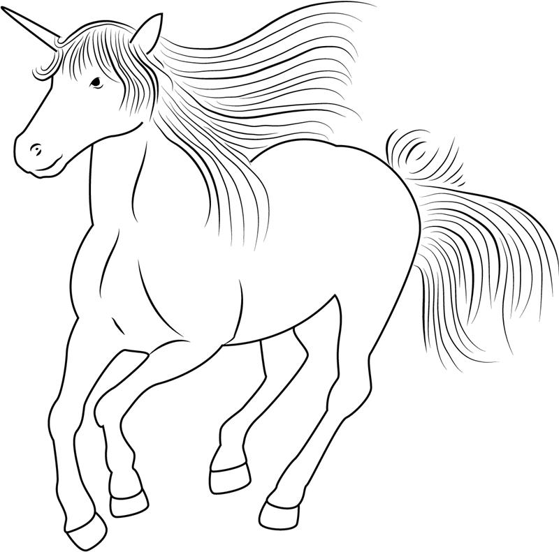 Unicorn Running Fast