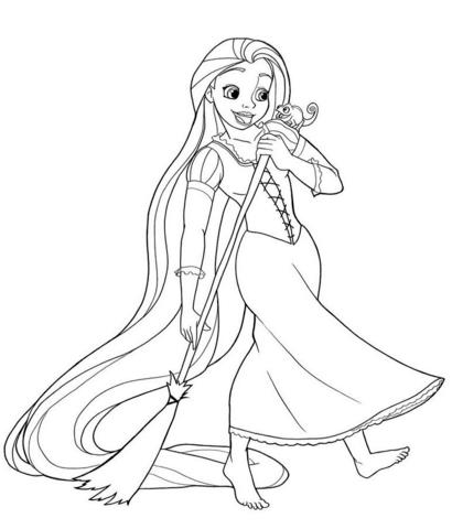 Rapunzel Sweeping