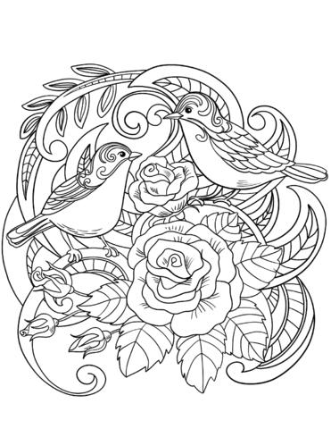 House Sparrow On Flowers