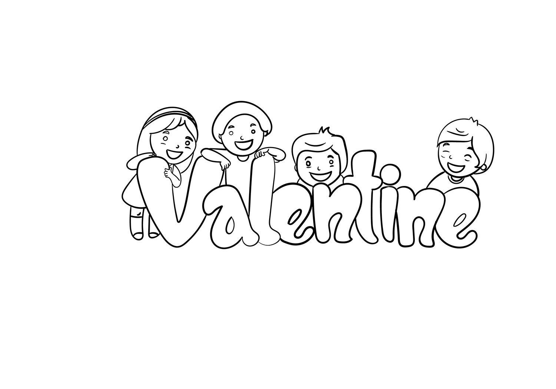 Valentine With Children