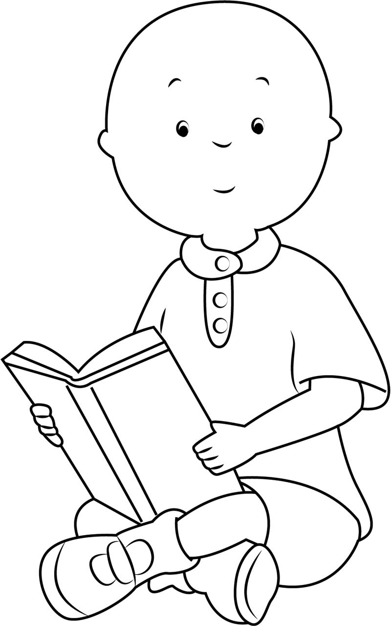 Caillou Reading Book