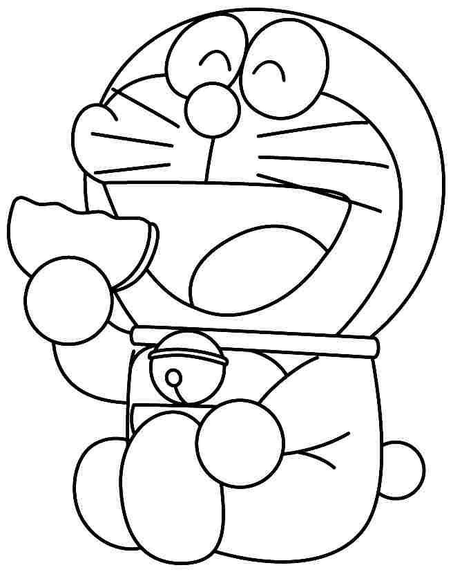 Doraemon Eating Donut