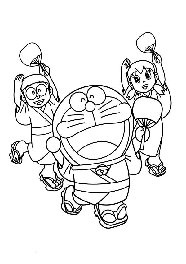 Doraemon, Nobita And Shizuka Dancing