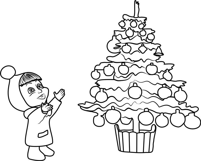 Baby Masha And Christmas Tree