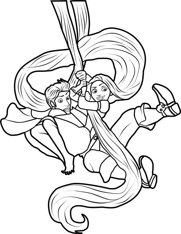 Rapunzel And Flynn Swinging
