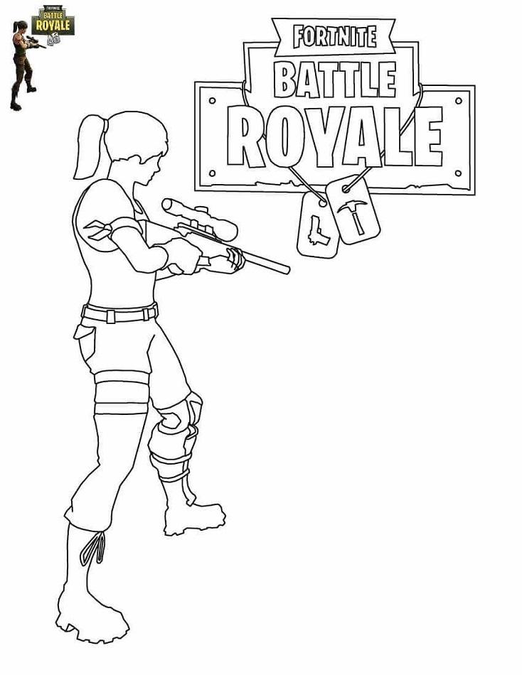 Girl In Fortnite Battle Royale