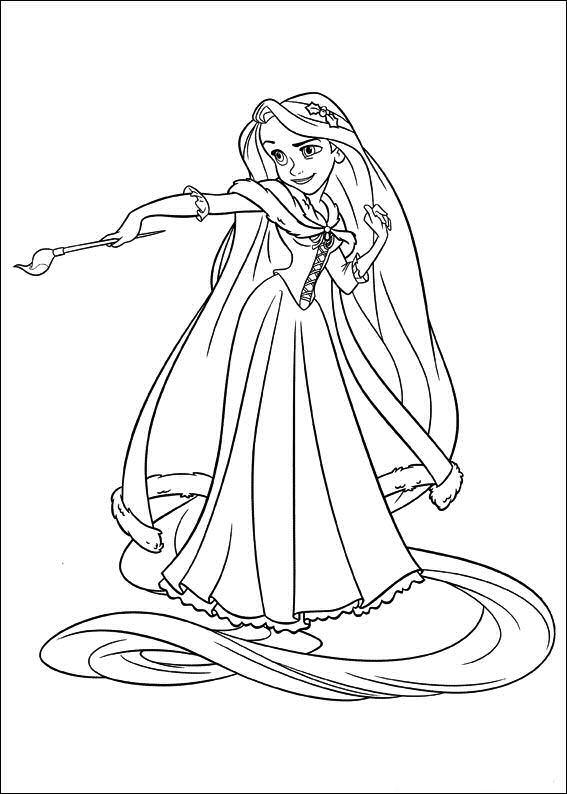 Rapunzel Holding Painting Brush
