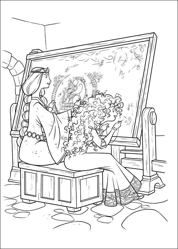 Elinor And Merida Embroidering
