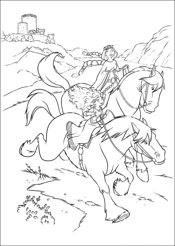 Merida And Queen Elinor Riding