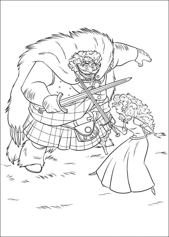 Merida Training With King Fergus