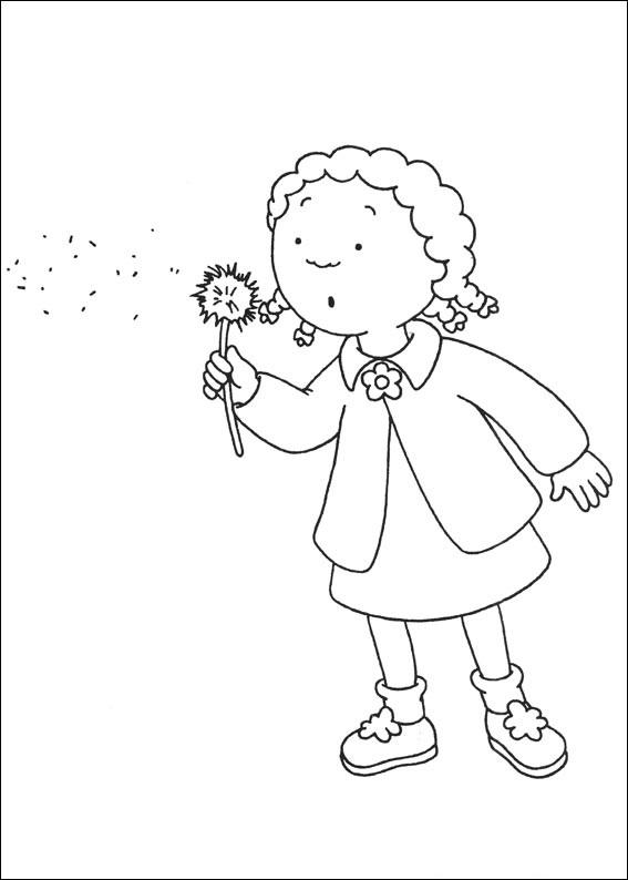 Clementine Blowing Dandelion