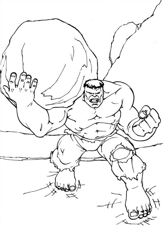 Hulk Holding Rock