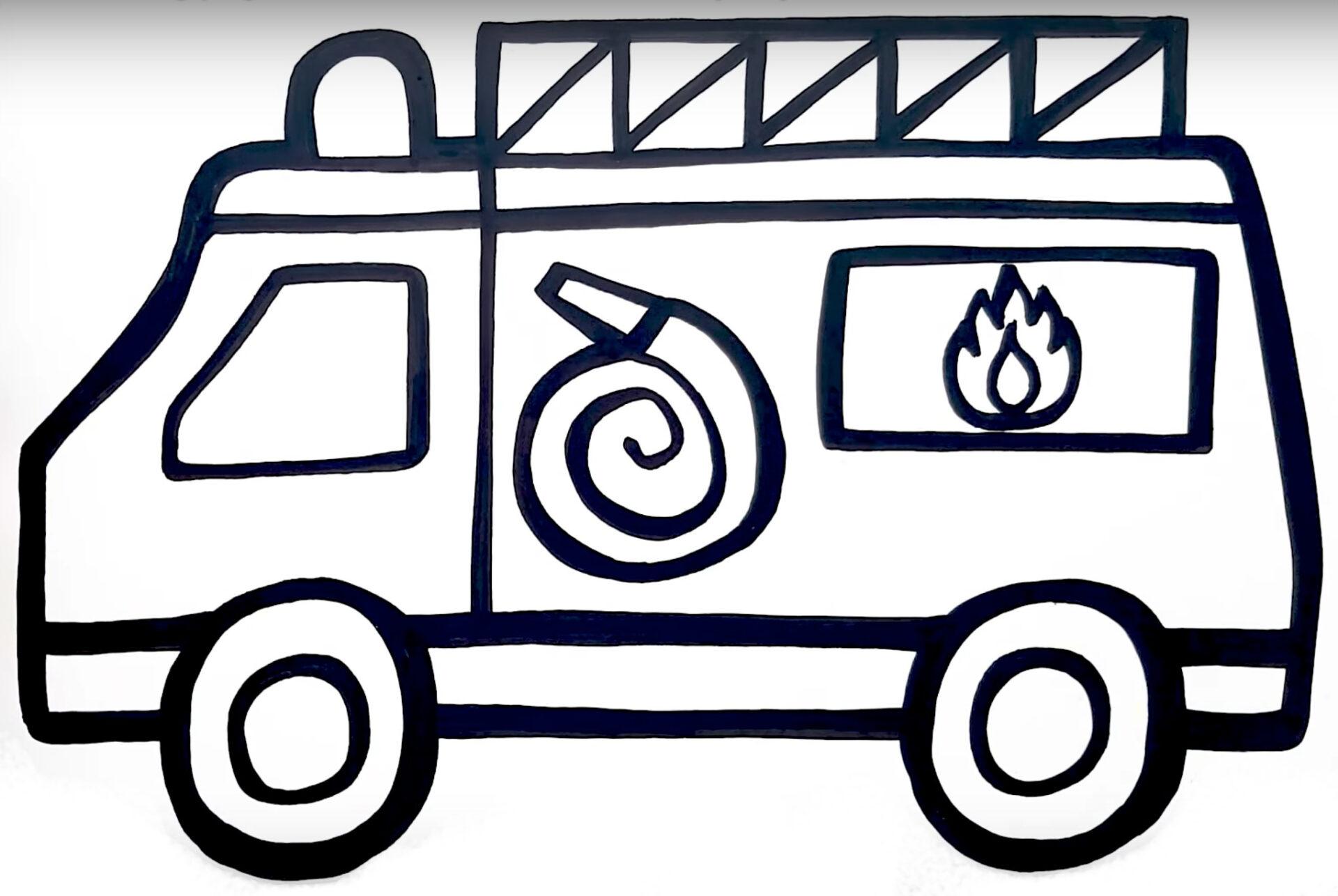 Glitter Toy Fire Truck
