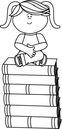 Girls Sitting On Books