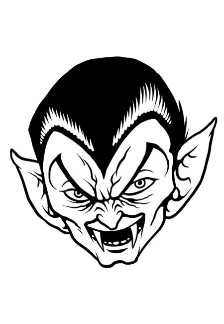 Dracula's Creepy Face