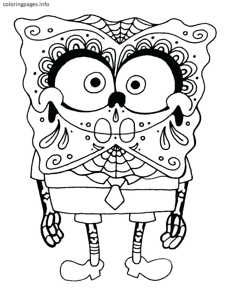 SpongeBob With Skeleton Costume