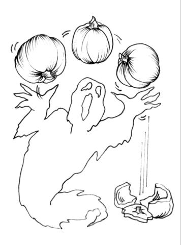 Ghost Juggling Pumpkin