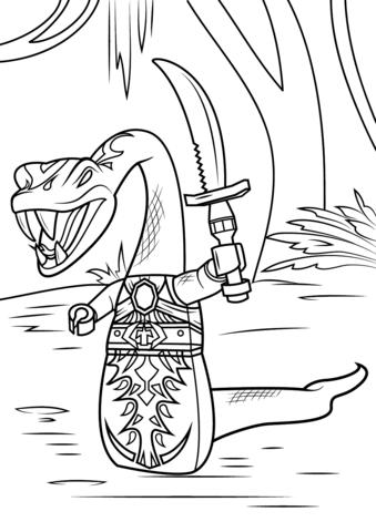 Pythor Holding Sword