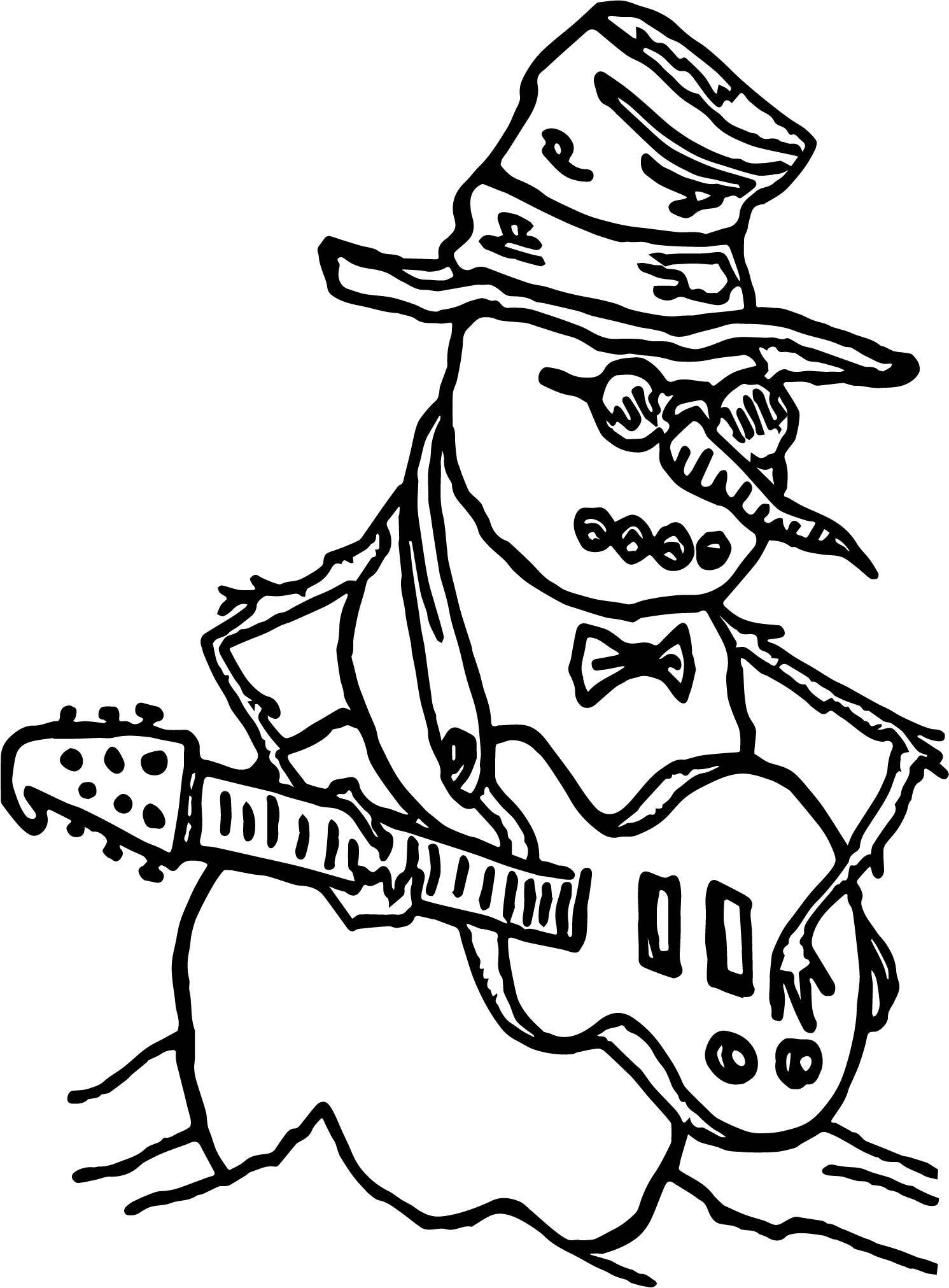 Snowmen The Guitar Player
