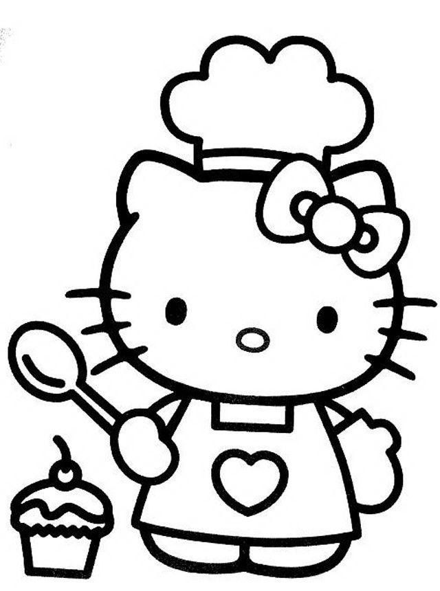 Kitty Making A Cupcake