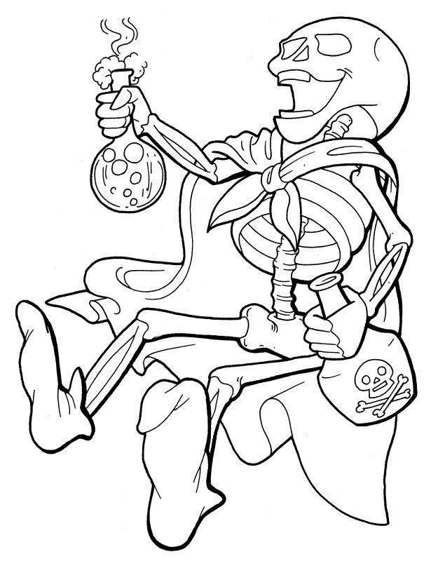 Skeleton Drinking Poison