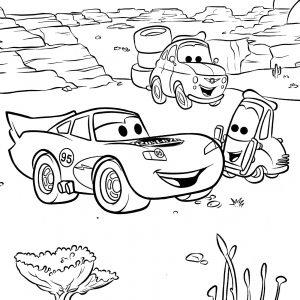 McQueen Changing Tires In Desert