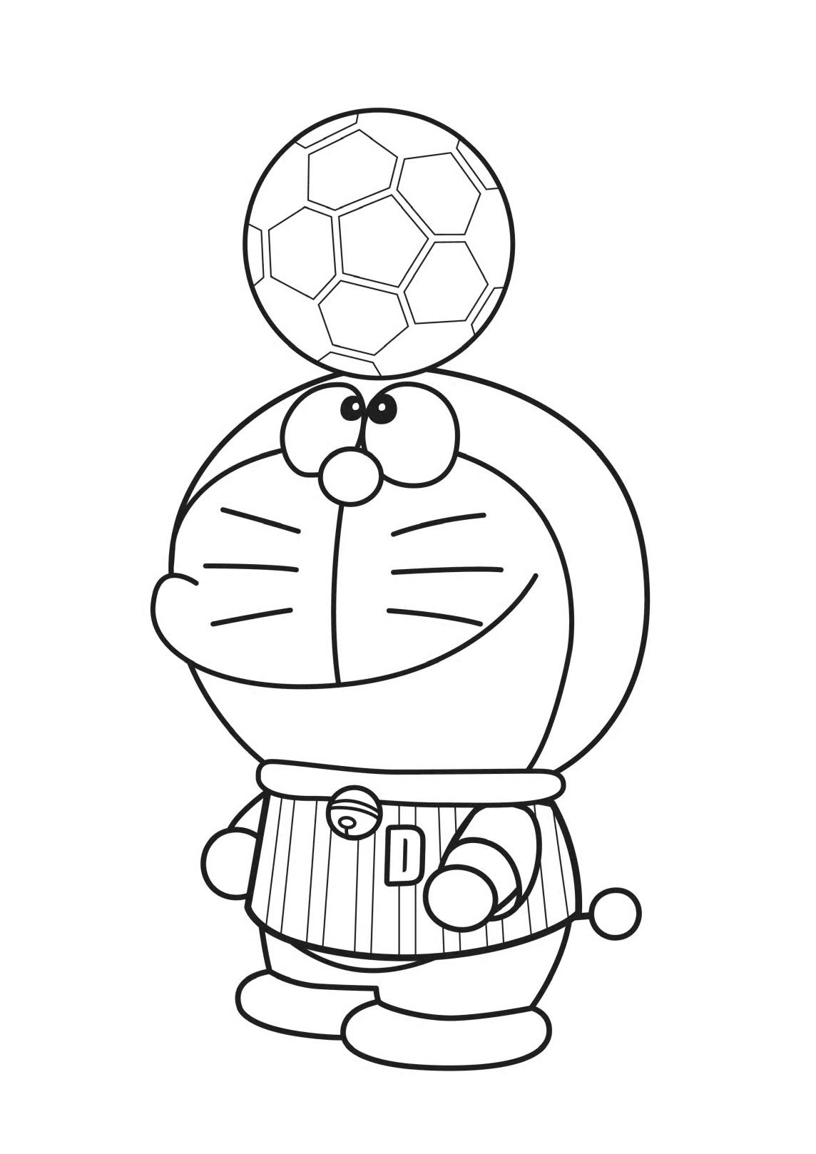 Doraemon Playing Soccer