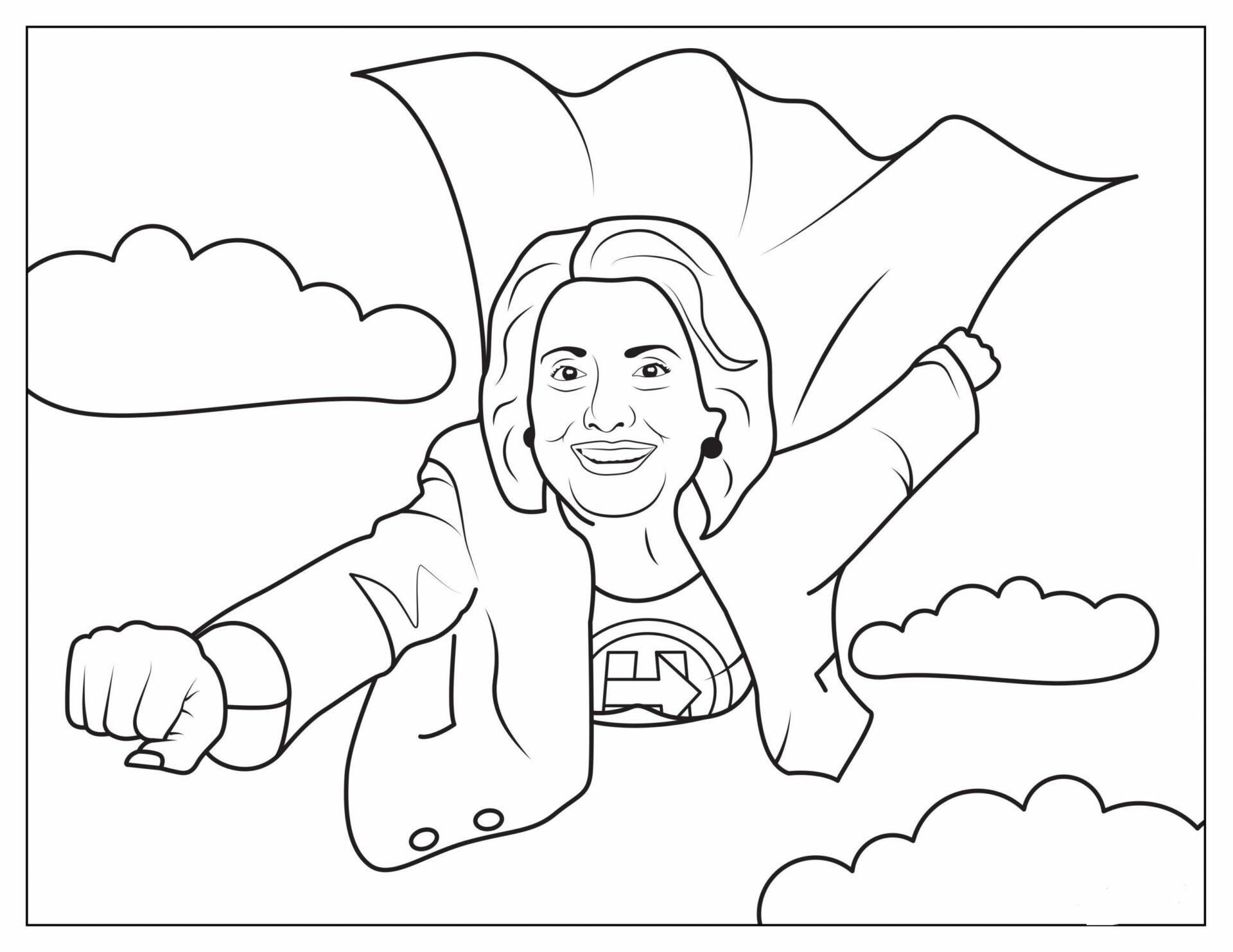 Hillary Clinton Flying