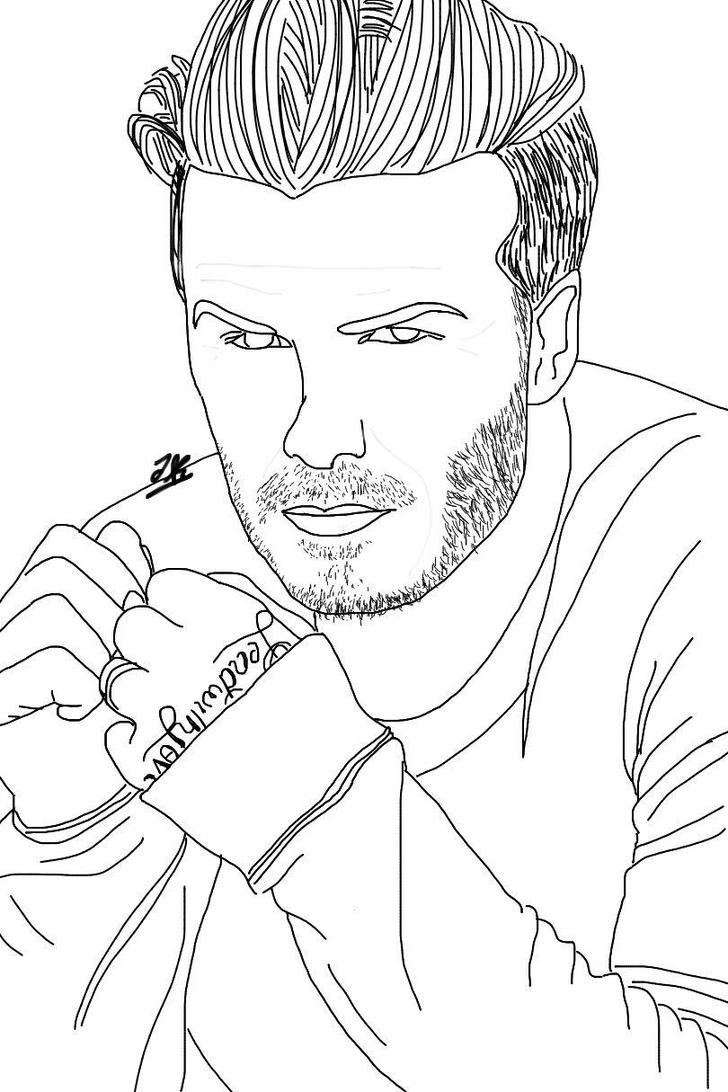 Handsome David Beckham