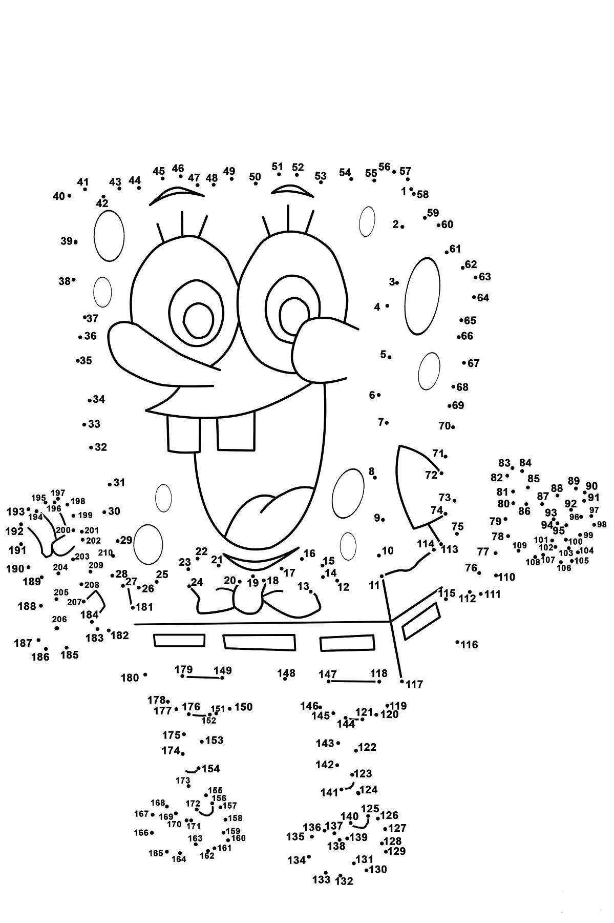 SpongeBob Dot To Dots