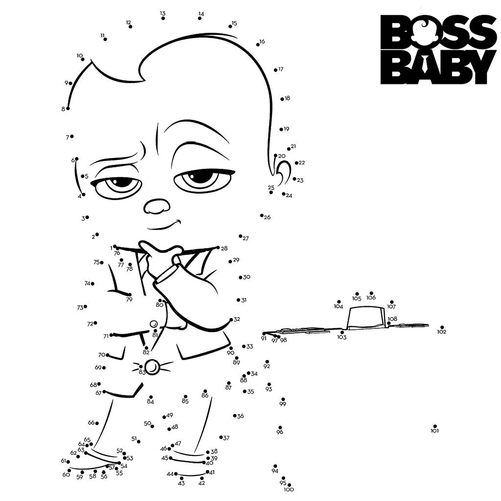 Boss Baby Dot To Dots