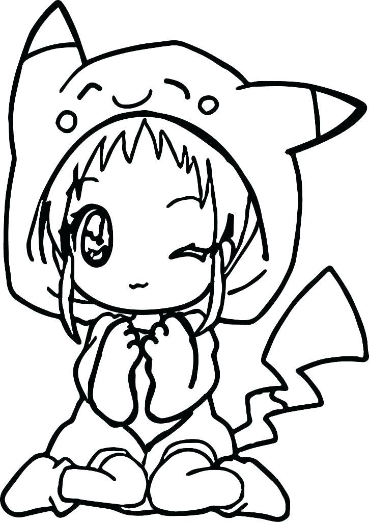Little Girl Wearing Pikachu Hat