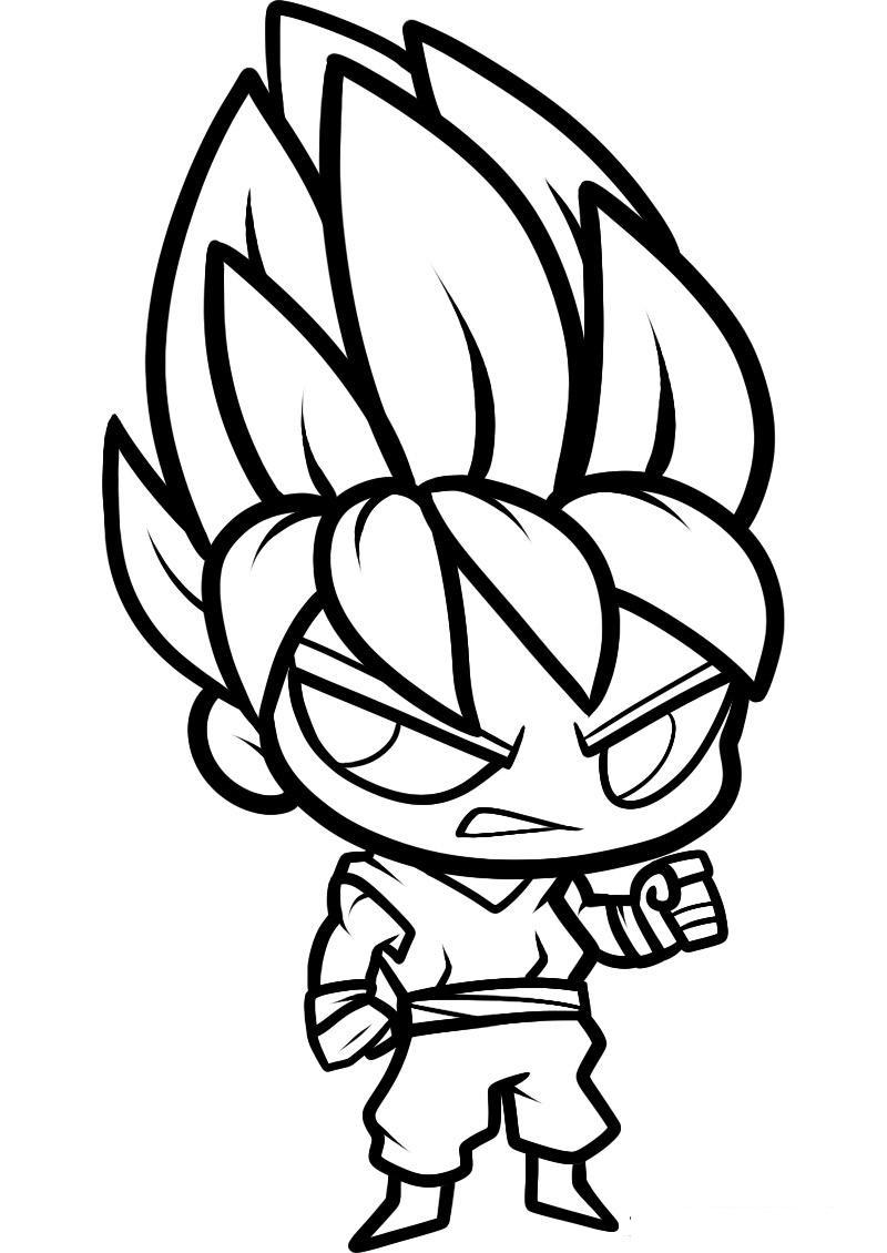 Chibi Goku Super Saiyan