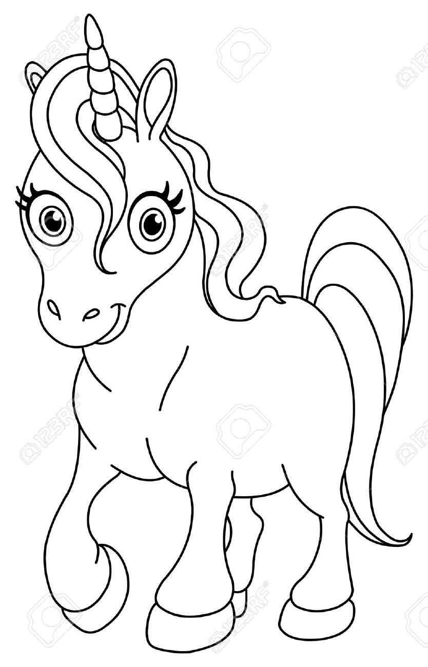 Lovely Unicorn Looking