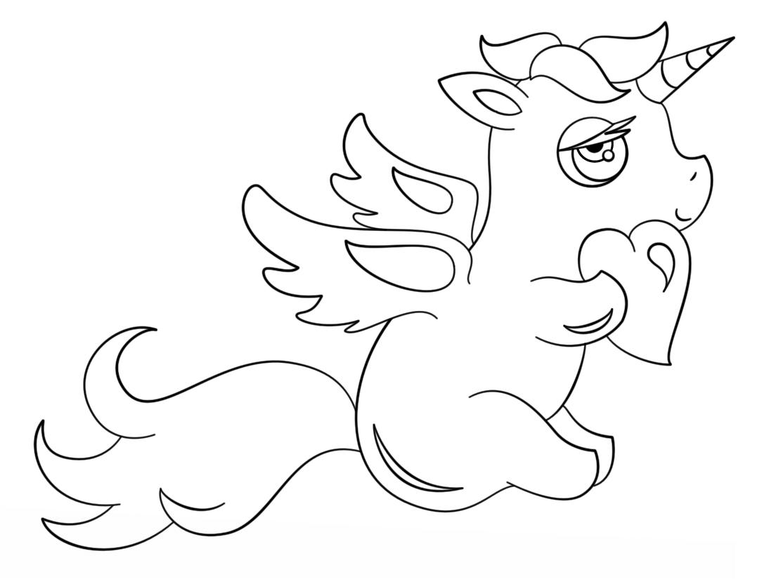 Cute Unicorn With Heart