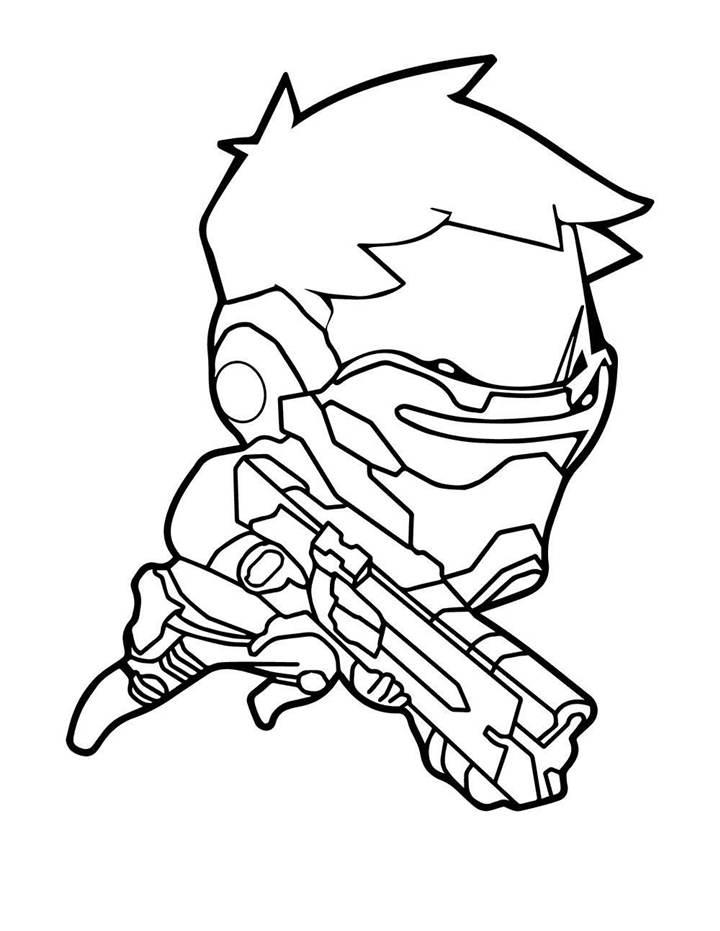 Chibi Soldier Overwatch