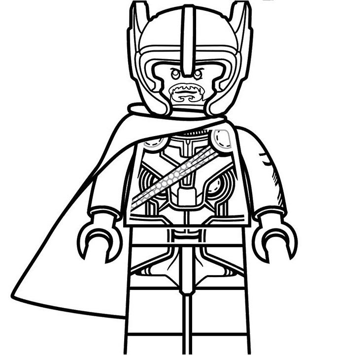 Lego Thor From Ragnarok
