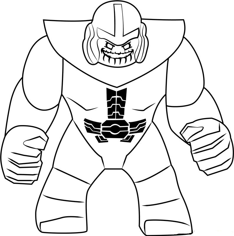 Lego Thanos Smiling