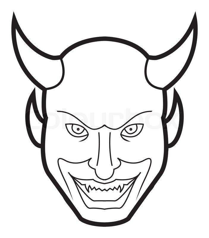 Demon's Smiling Face