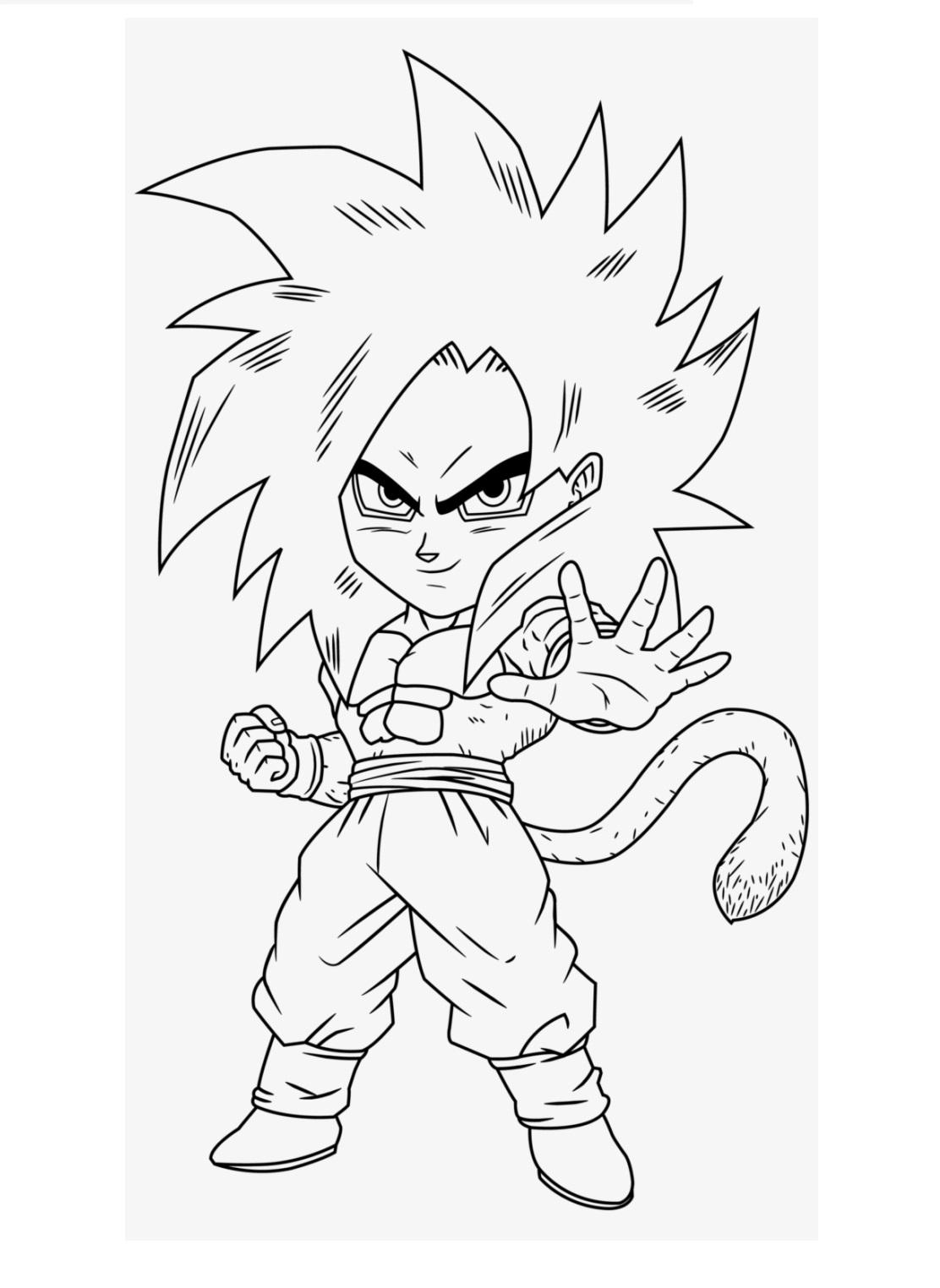 Chibi Goku Super Saiyan Xeno